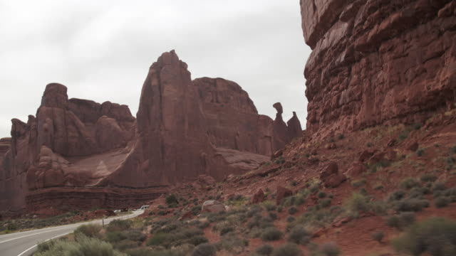 tracking shot driving through the deserts of utah - native american reservation stock videos & royalty-free footage