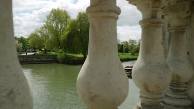 tracking shot from a bridge onto the river cam, cambridge. - cambridge university stock videos & royalty-free footage