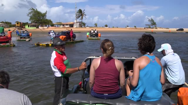 Tracking Shot general views from a beach in Natal Brazil shot on December 8th 2014 Natal is located on the northeastern coast of Brazil It is the...