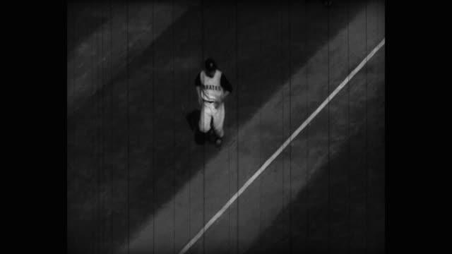 tracking shot of baseball player running on field - baseball sport stock videos & royalty-free footage
