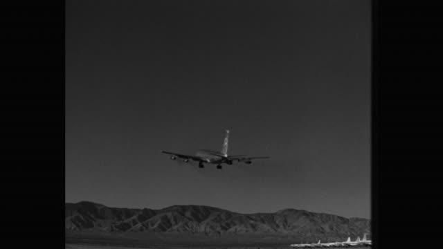 tracking shot of boeing 707 taking off from runway - moving activity stock videos & royalty-free footage