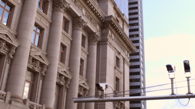 tracking shot of intricate building with columns - ornate stock videos and b-roll footage