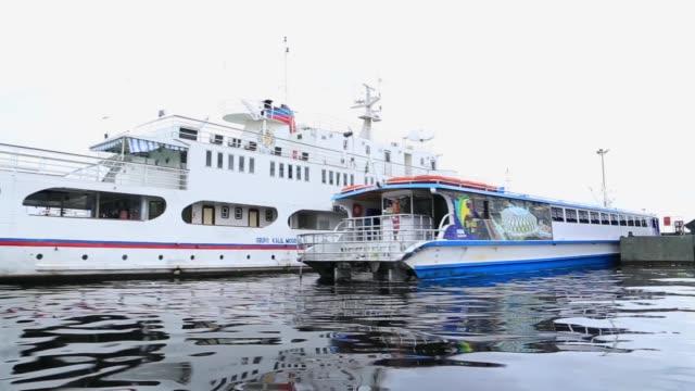 vídeos de stock, filmes e b-roll de tiro de rastreamento do porto de manaus no amazonas - recipiente