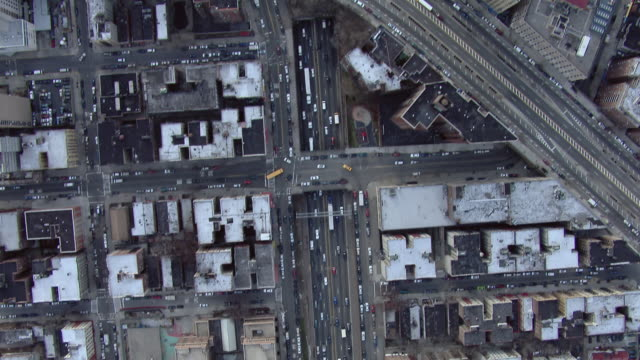 Tracking shot of the Cross Bronx Expressway (Interstate 95) traveling east through the Bronx in New York City.