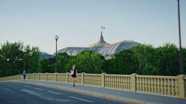 Tracking shot of the Grand Palais from the Pont des Invalides