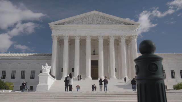 tracking shot of the supreme court in dc - supreme court stock videos & royalty-free footage