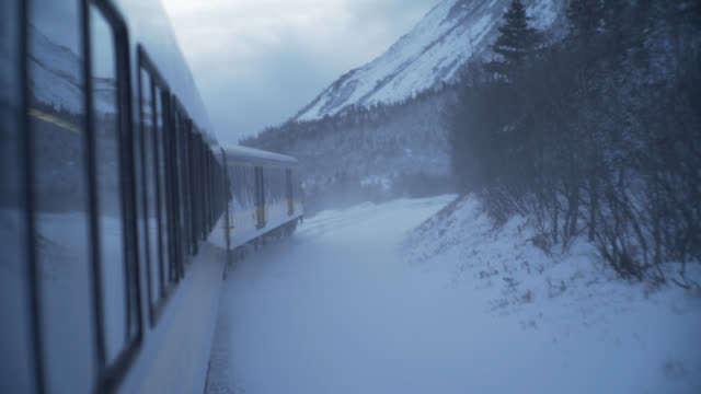 tracking shot of train carraiges - zugperspektive stock-videos und b-roll-filmmaterial
