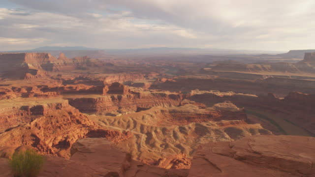 Tracking shot, scenic canyon landscape in Utah