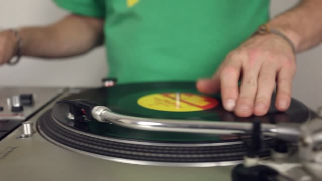 tracking shot scratch dj - record player stock videos & royalty-free footage
