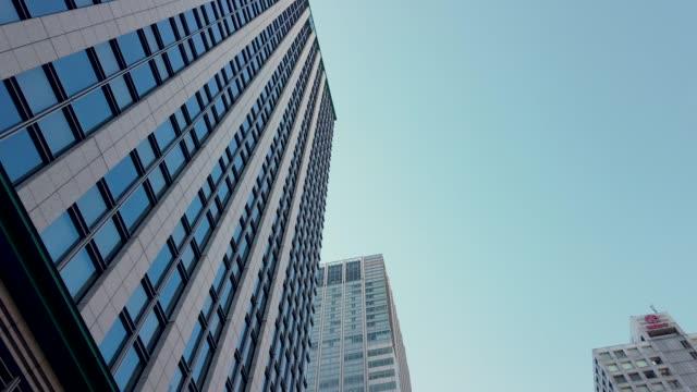 トラッキング ショット。東京都市景観室背景。 - 通過する点の映像素材/bロール