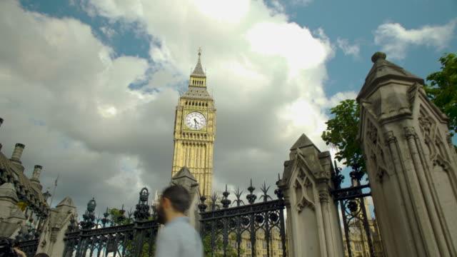 Tracking shot towards Big Ben.