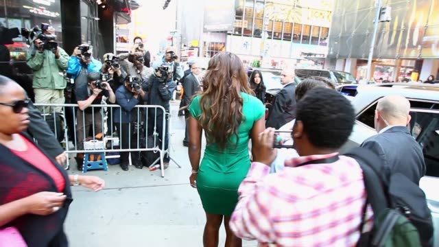 tracking shot, us open champion serena williams leaving after her appearance on the 'cbs this morning' show. . - talk show stock videos & royalty-free footage