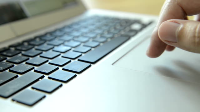 trackpad laptop - touchpad stock videos & royalty-free footage