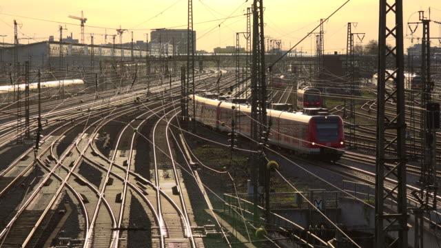 Tracks at Munich Central Railway Station, Munich, Bavaria, Germany