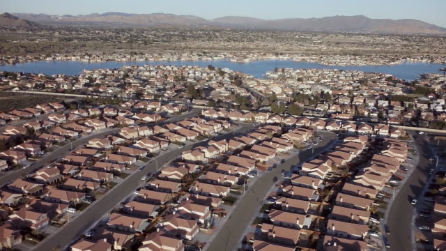 aerial tract housing community - tract housing stock videos and b-roll footage