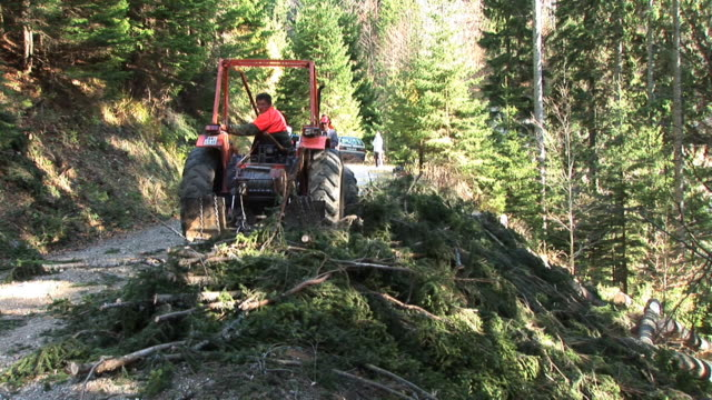 vídeos y material grabado en eventos de stock de hd: tractor en el trabajo - ir marcha atrás