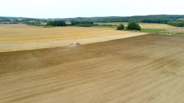 Traktor-Anbau von landwirtschaftlichen Bereich - 4K