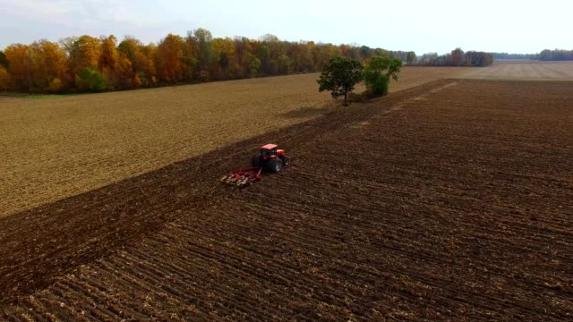 tractor harvest in fremont ohio - ohio stock videos & royalty-free footage