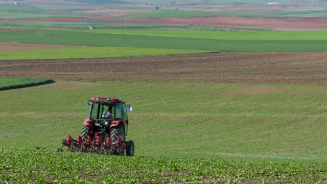 tractor plowing a field - tractor stock videos & royalty-free footage