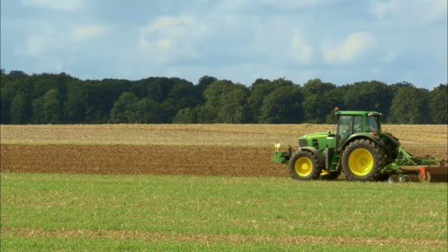 WS, Tractor plowing field, Namur, Belgium