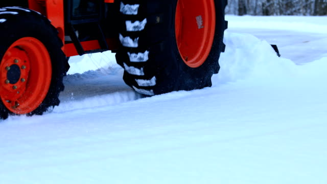 Tractor Plowing Snow