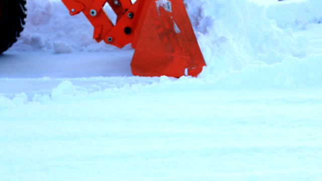 tractor plowing snow - tractor stock videos & royalty-free footage