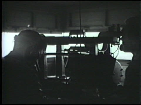 tractor pulling antiair defense artillery us army soldiers in bunker looking out radio intelligence operators vs troops running rehearsing defense... - artiglieria video stock e b–roll
