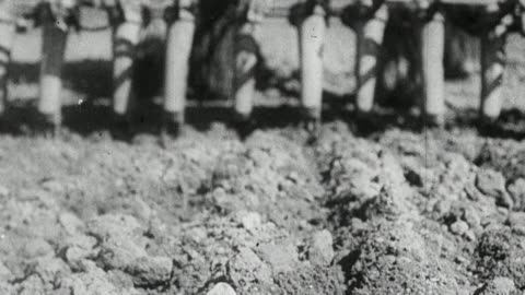 vídeos y material grabado en eventos de stock de montage tractors and plows preparing the soil for spring sowing in a farm field / united kingdom - arar