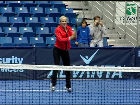 Tracy Austin warming up at the 12th Annual World Team Tennis Smash Hits Benefiting the Elton John AIDS Foundation at Bren Events Center in Irvine...