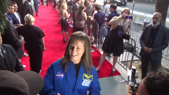 tracy caldwell dyson greets fans outside the ad astra premiere at arclight cinerama dome in hollywood in celebrity sightings in los angeles - cinerama dome hollywood stock videos & royalty-free footage