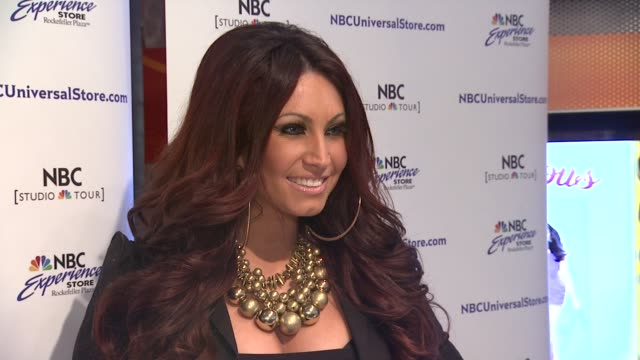 tracy dimarco at 'jerseylicious' cast meet greet on 3/7/2012 in new york ny united states - tracy dimarco stock videos and b-roll footage