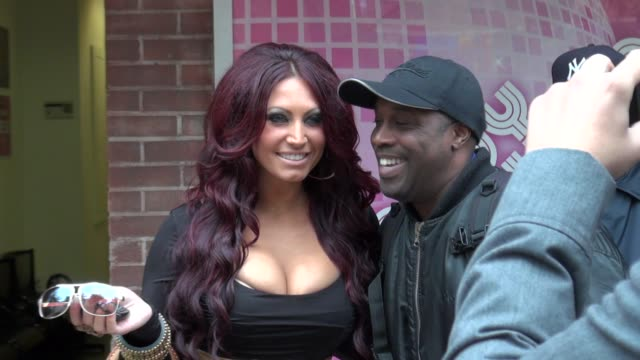 tracy dimarco poses for fans at the wendy williams show 10/13/11 - tracy dimarco stock videos and b-roll footage