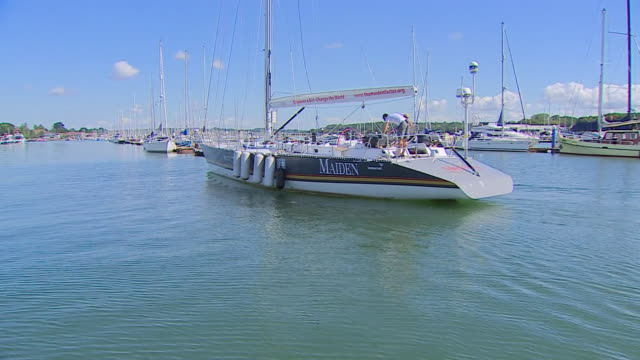 tracy edwards on board the maiden - sailing boat stock videos & royalty-free footage