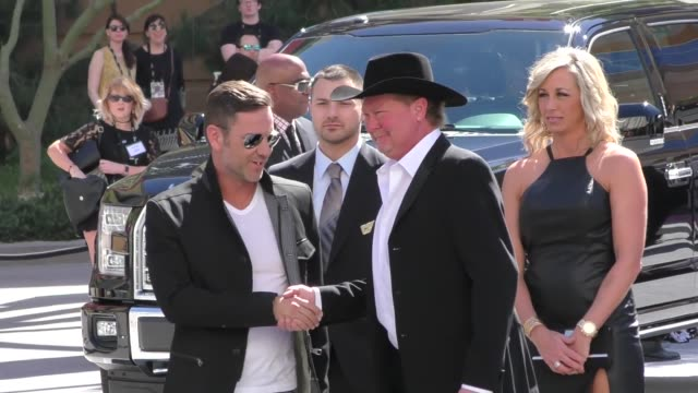 tracy lawrence arriving to the 52nd academy of country music awards in celebrity sightings in las vegas - academy of country music awards stock videos & royalty-free footage