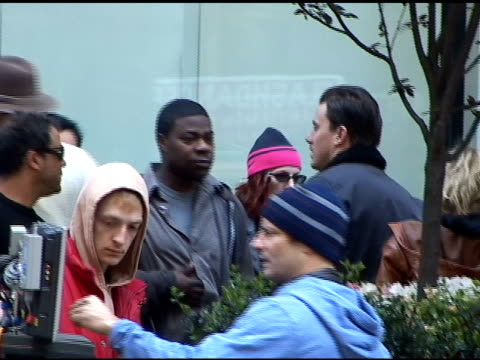 Tracy Morgan and Channing Tatum on the set of 'Son of No One' at the Celebrity Sightings in New York at New York NY