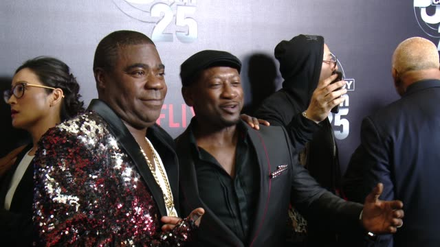 Tracy Morgan and Joe Torry at Netflix Presents 'Def Comedy Jam' 25 Anniversary Special Arrivals at The Beverly Hilton Hotel on September 10 2017 in...