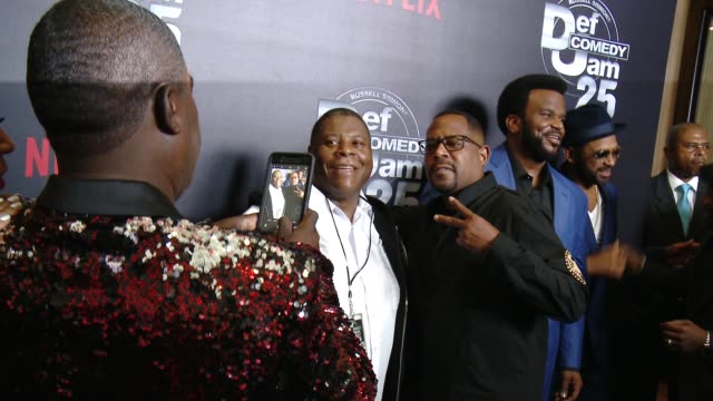 Tracy Morgan and Martin Lawrence at Netflix Presents 'Def Comedy Jam' 25 Anniversary Special Arrivals at The Beverly Hilton Hotel on September 10...
