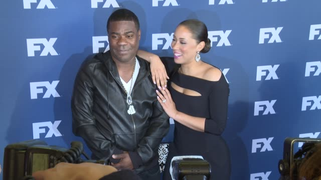 Tracy Morgan and Megan Morgan at The People v OJ Simpson American Crime Story FX Networks Upfront Screening at AMC Empire 25 theater on March 30 2016...