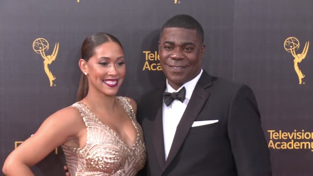 Tracy Morgan and Megan Wollover at the 2016 Creative Arts Emmy Awards Day 1 Arrivals at Microsoft Theater on September 10 2016 in Los Angeles...