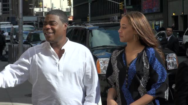 Tracy Morgan and Megan Wollover at the 'Late Show with David Letterman' studio Tracy Morgan and Megan Wollover at the 'Late Show on March 29 2012 in...
