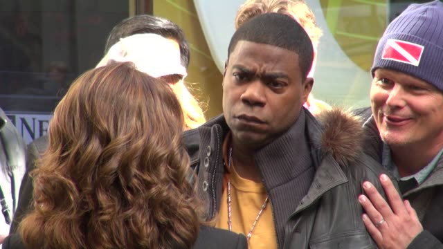Tracy Morgan andTina Fey on the set of 30 Rock in New York