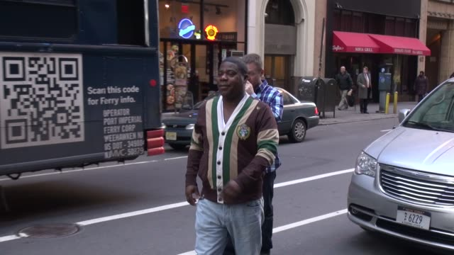 Tracy Morgan arrives at the Today show in Rockefeller Center talks about what he is promoting in Celebrity Sightings in New York