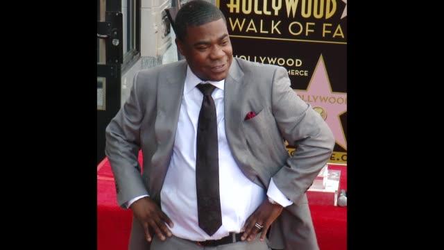 vídeos y material grabado en eventos de stock de tracy morgan at the tracy morgan honored with a star on the hollywood walk of fame - tracy morgan