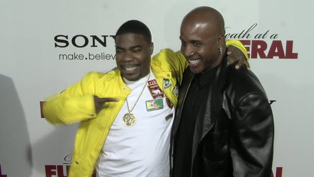 Tracy Morgan Barry Bonds at the 'Death At A Funeral' Premiere at Hollywood CA