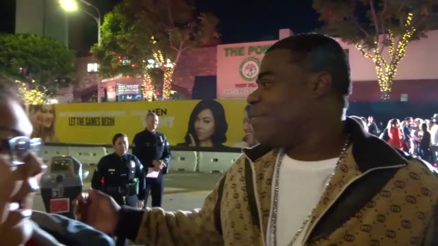 Tracy Morgan greets fans at the What Men Want Premiere at Regency Village Theatre in Westwood in Celebrity Sightings in Los Angeles