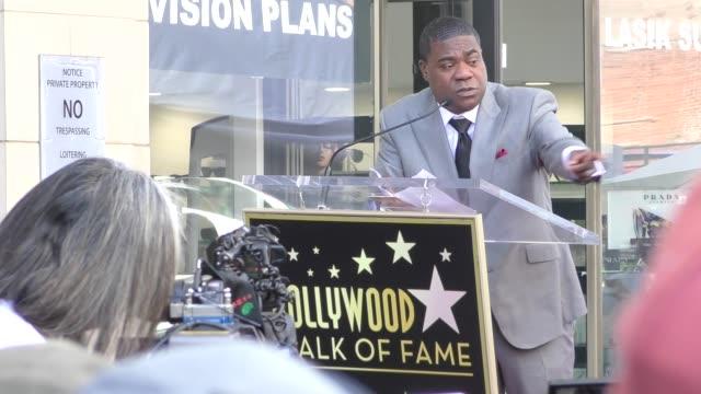 vídeos y material grabado en eventos de stock de tracy morgan honored with a star on the hollywood walk of fame in hollywood in celebrity sightings in los angeles - tracy morgan