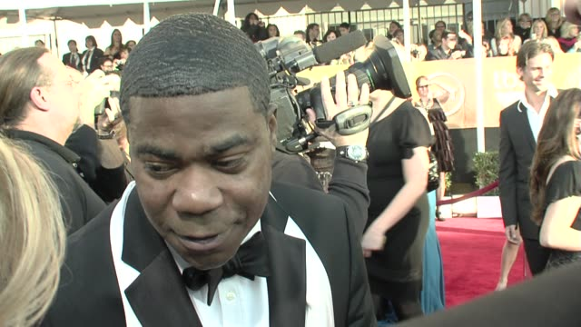 tracy morgan on being at the sag awards on the show and on working with alec baldwin at the 15th annual screen actors guild awards part 6 at los... - screen actors guild awards stock videos & royalty-free footage