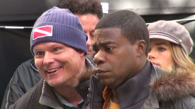 Tracy Morgan on location for '30 Rock' in New York on