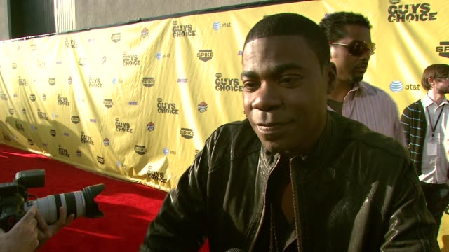 Tracy Morgan on why he wanted to be part of the Guys' Choice Awards and the difference between men and guys at the Spike TV's Guys' Choice Awards at...