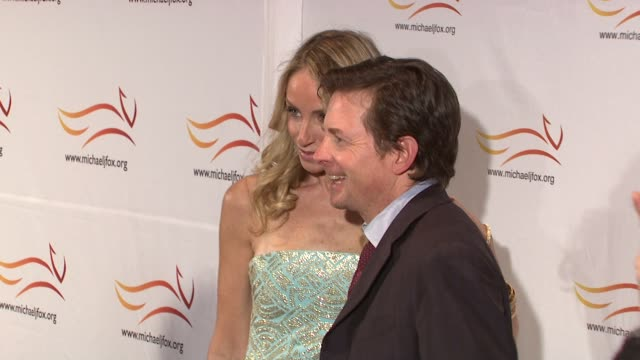 Tracy Pollan and Michael J Fox at the 'A Funny Thing Happened On The Way To Cure Parkinson's' Benefit at New York NY